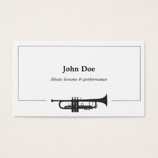 Trompete-Visitenkarte Visitenkarte