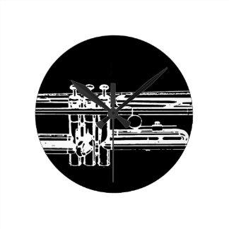 Trompete Wanduhr
