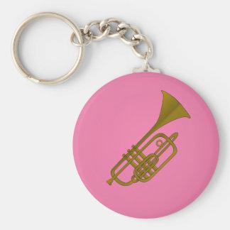 Trompeteillustration keychain schlüsselanhänger