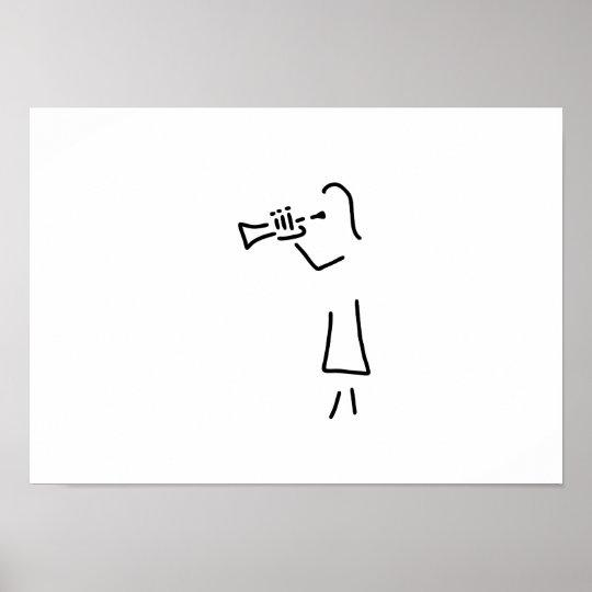 trompeter blechblaeser poster