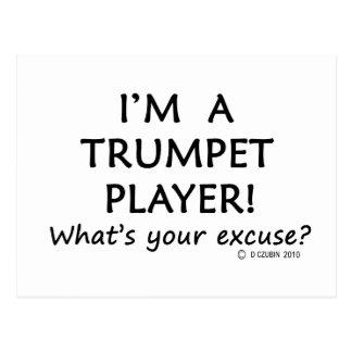 Trompeters-Entschuldigung Postkarte