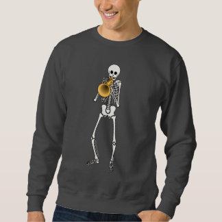Trompeters-Skelett Sweatshirt