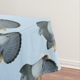 Trompeters-Tauben-Blau Barless Tischdecke