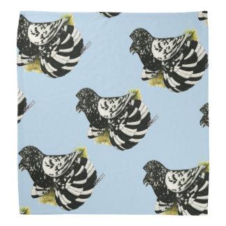 Trompeters-Tauben-dunkles Spritzen Kopftuch