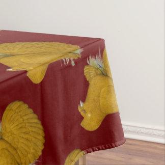 Trompeters-Tauben-Gelb-Selbst Tischdecke