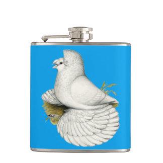 Trompeters-Tauben-Weiß Flachmann