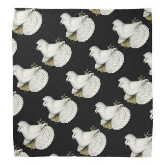 Trompeters-Tauben-Weiß Halstuch