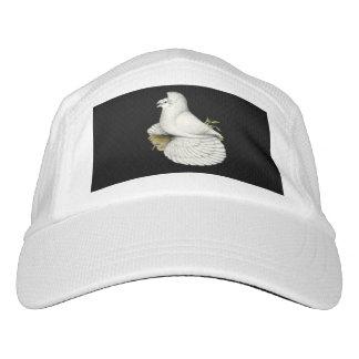 Trompeters-Tauben-Weiß Headsweats Kappe
