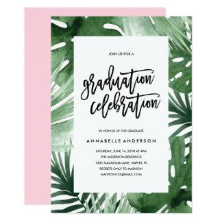 Tropen-Abschluss-Feier-Einladung Karte