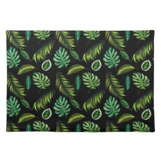 Tropen verlassen Muster handgemachtes BlumenTiki Stofftischset