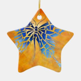 Tropenillo V1 - der blaue Schmetterling Keramik Ornament
