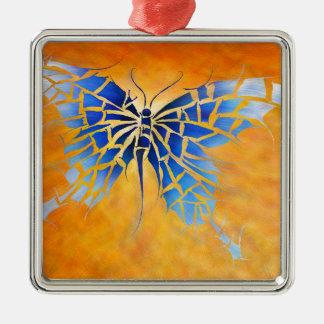 Tropenillo V1 - der blaue Schmetterling Silbernes Ornament
