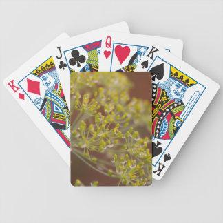 Tröpfchen auf Dillsamen-Blume Bicycle Spielkarten