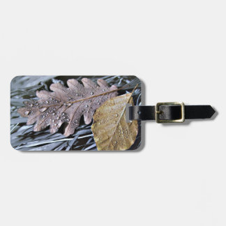 Tropfen auf Herbst-Blätter - Gepäck-Umbau Kofferanhänger