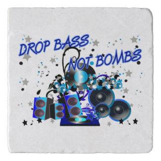 Tropfen-Baß nicht bombardiert Musik gegen Gewalt Töpfeuntersetzer