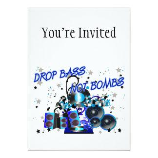 Tropfen-Bass-nicht Bomben 12,7 X 17,8 Cm Einladungskarte