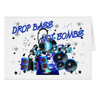 Tropfen-Bass-nicht Bomben Grußkarte