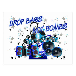 Tropfen-Bass-nicht Bomben Postkarten