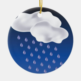 Tropfen des Regens Keramik Ornament