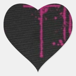 Tropfen Herz-Aufkleber