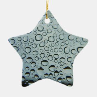 Tropfen im Metall Keramik Ornament