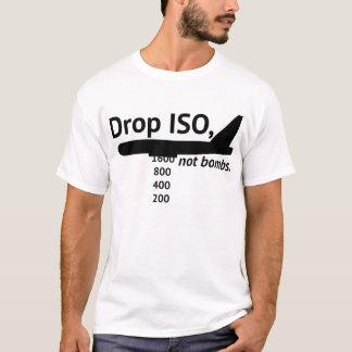 Tropfen ISO, nicht Bomben. (Weiß) T-Shirt