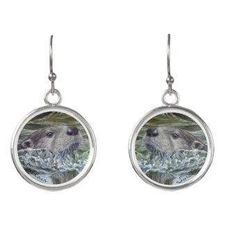 Tropfen-Otter-Ohrringe Ohrringe