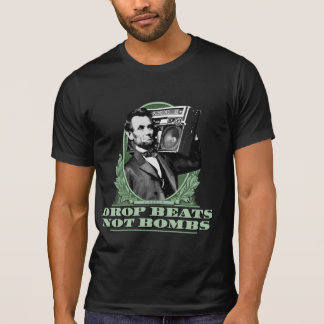 Tropfen schlägt nicht Bomben Abe Lincoln Zitat Hemden
