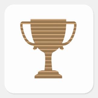 Trophäe-Schalen-Preis-Spiel-Sport-Wettbewerb Quadratischer Aufkleber