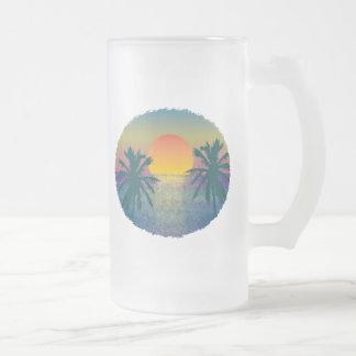 Tropicana Sonnenuntergang Matte Glastasse