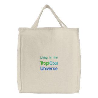 TropiCoolUniverse Taschen-/Strandtasche Bestickte Tasche