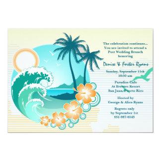 Tropische 12,7 X 17,8 Cm Einladungskarte