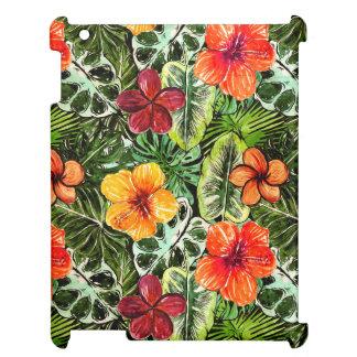 Tropische Aloha exotische Dschungel-Blumen iPad Hülle