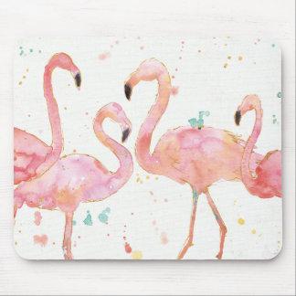 Tropische | Ansammlung der Flamingos Mousepad