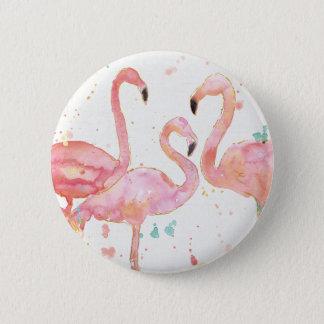 Tropische   Ansammlung der Flamingos Runder Button 5,1 Cm