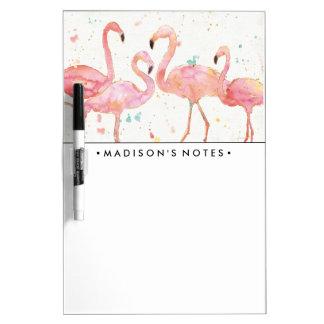 Tropische | Ansammlung der Flamingos Trockenlöschtafel