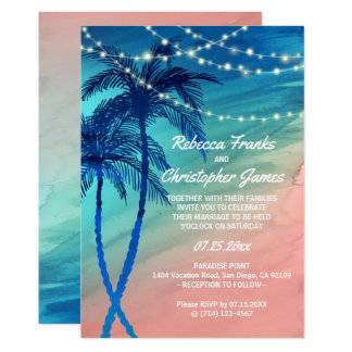 Tropische aquamarine Blau-u. 12,7 X 17,8 Cm Einladungskarte