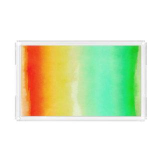 Tropische Aquarell-Streifen Acryl Tablett