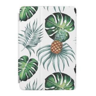 Tropische Aquarellananasmalerei auf Weiß iPad Mini Cover