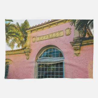 Tropische Bahnstation Geschirrtuch