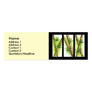 Tropische Bambusmalerei - multi Visitenkarten