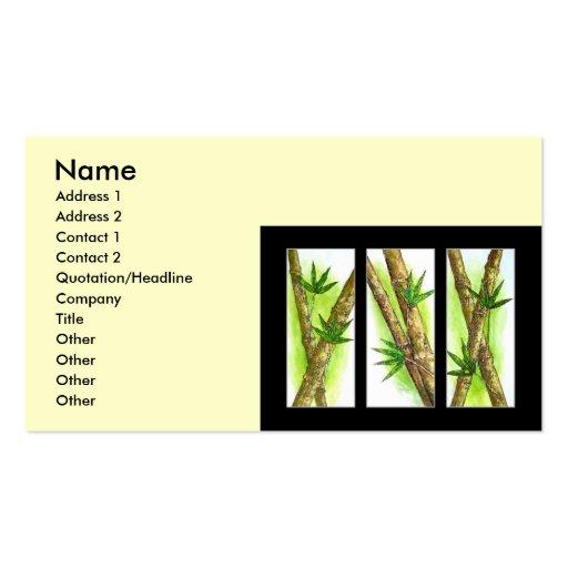 Tropische Bambusmalerei - multi Visitenkartenvorlagen