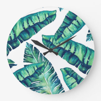 Tropische bezaubernde runde Uhr