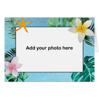 Tropische Blätter-Blumen danken Ihnen kleines Karte