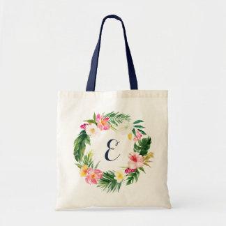 Tropische Blätter-Taschen-Tasche. Personalisierte Budget Stoffbeutel