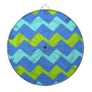 Tropische blaue gewellte Streifen Dartscheibe