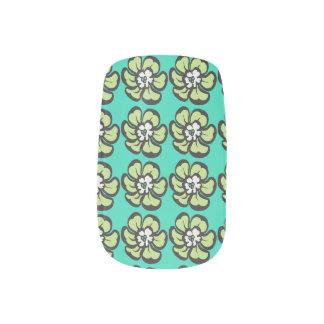 Tropische Blume Minx Nagelkunst