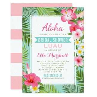 Tropische Blumen Brautparty Luau Einladungs-| Karte
