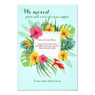 Tropische Blumen, die Mitteilung bewegen 8,9 X 12,7 Cm Einladungskarte