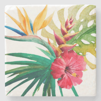 Tropische Blumen-SteinUntersetzer Steinuntersetzer